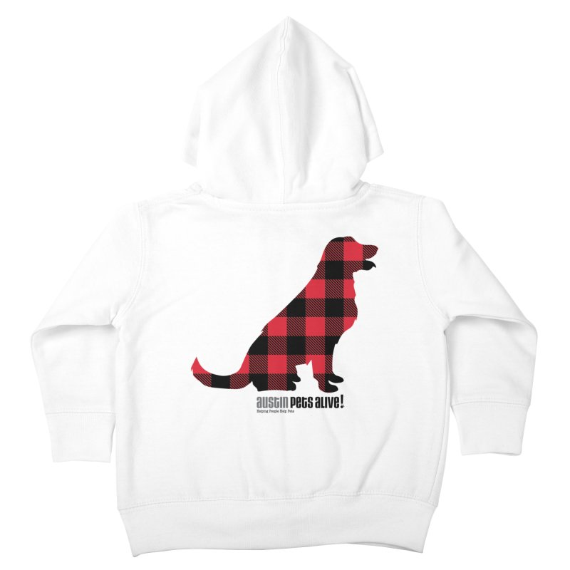Dog in Plaid Kids Toddler Zip-Up Hoody by austinpetsalive's Artist Shop