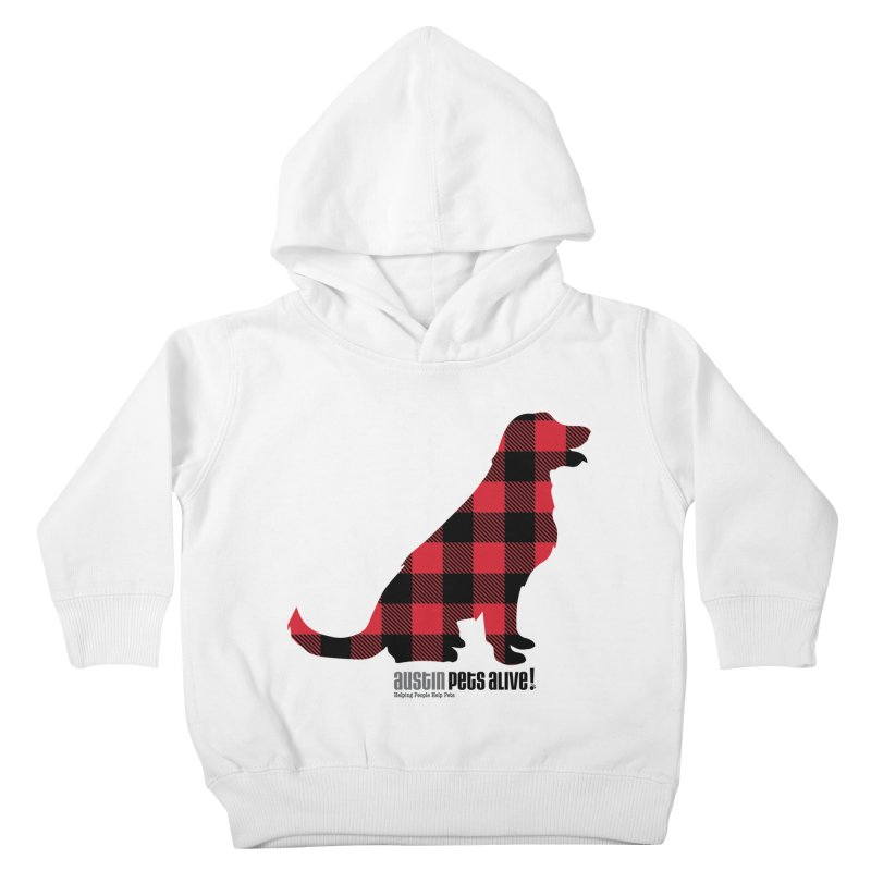 Dog in Plaid Kids Toddler Pullover Hoody by austinpetsalive's Artist Shop