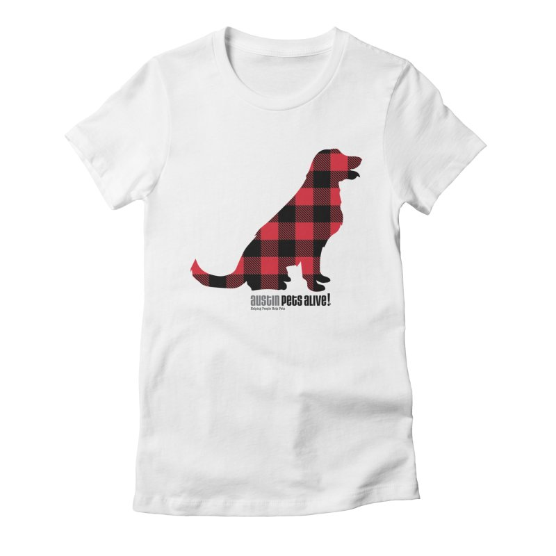 Dog in Plaid Women's Fitted T-Shirt by austinpetsalive's Artist Shop