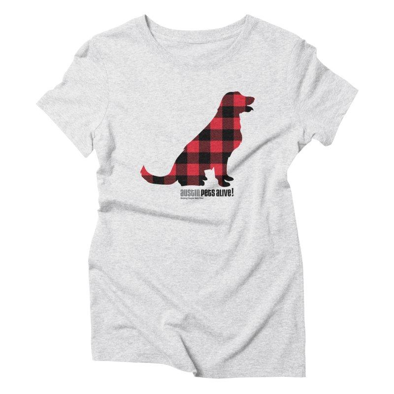 Dog in Plaid Women's Triblend T-Shirt by austinpetsalive's Artist Shop