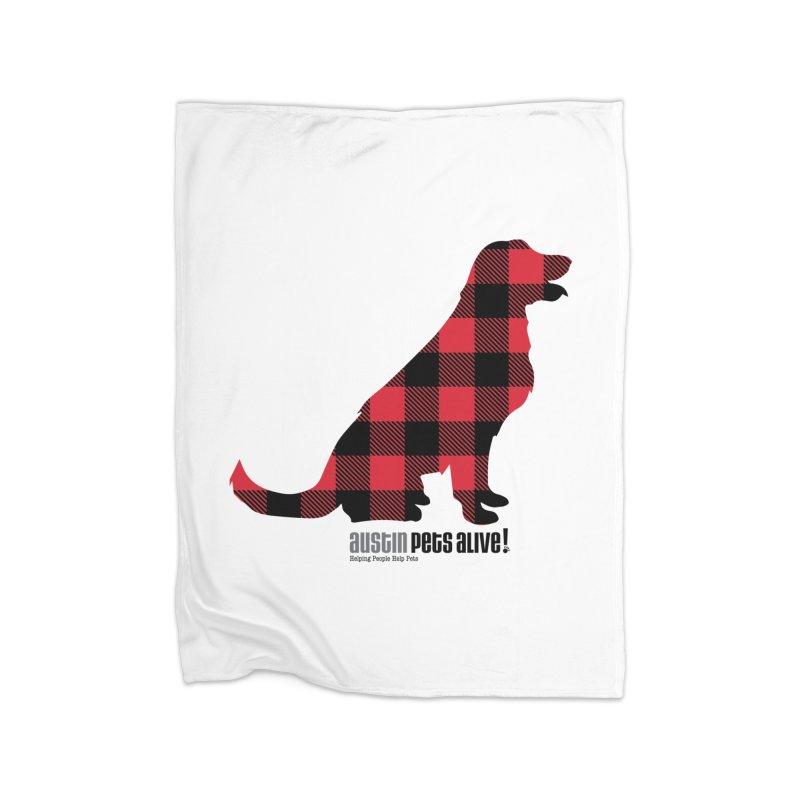 Dog in Plaid Home Blanket by austinpetsalive's Artist Shop
