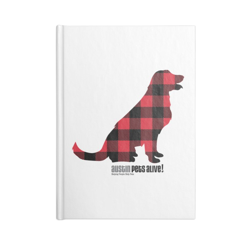 Dog in Plaid Accessories Notebook by austinpetsalive's Artist Shop