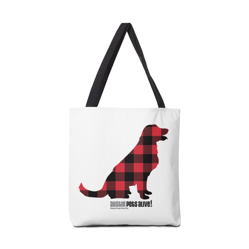 Dog in Plaid Accessories Bag by austinpetsalive's Artist Shop