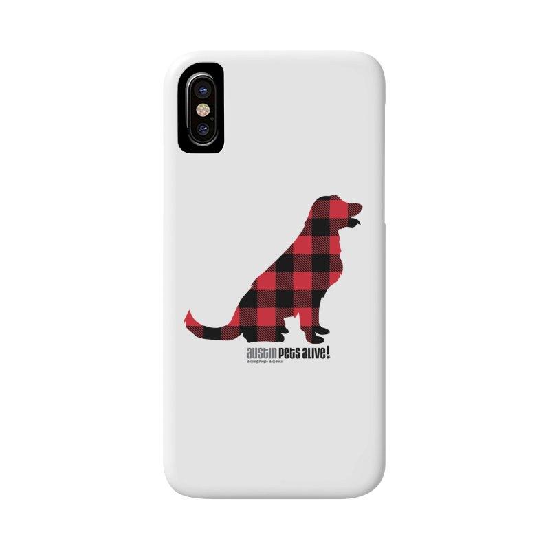 Dog in Plaid Accessories Phone Case by austinpetsalive's Artist Shop