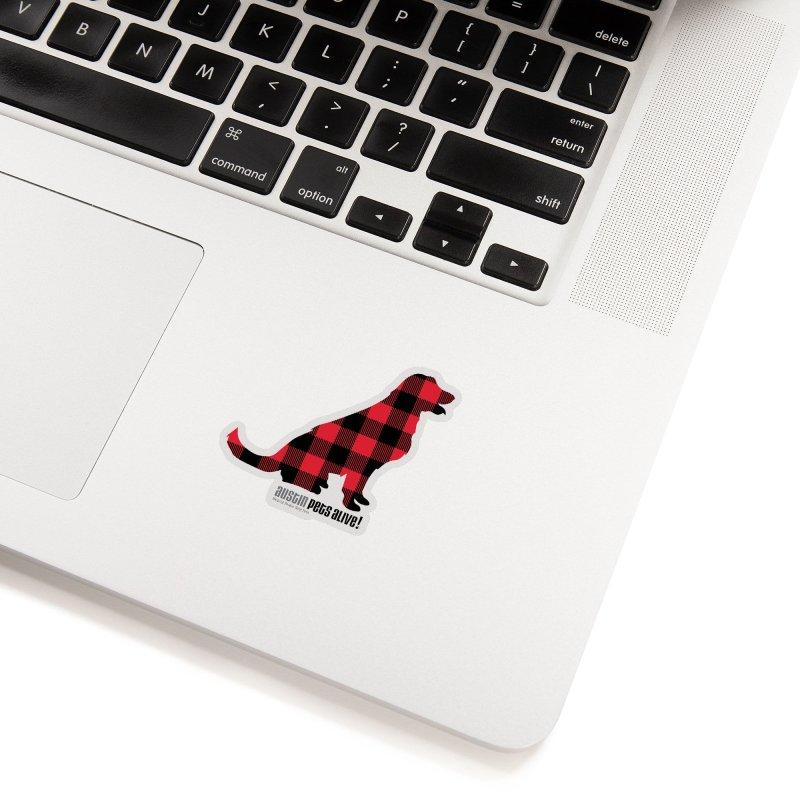 Dog in Plaid Accessories Sticker by austinpetsalive's Artist Shop
