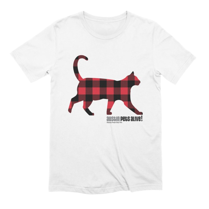 Cat in Plaid Men's Extra Soft T-Shirt by austinpetsalive's Artist Shop