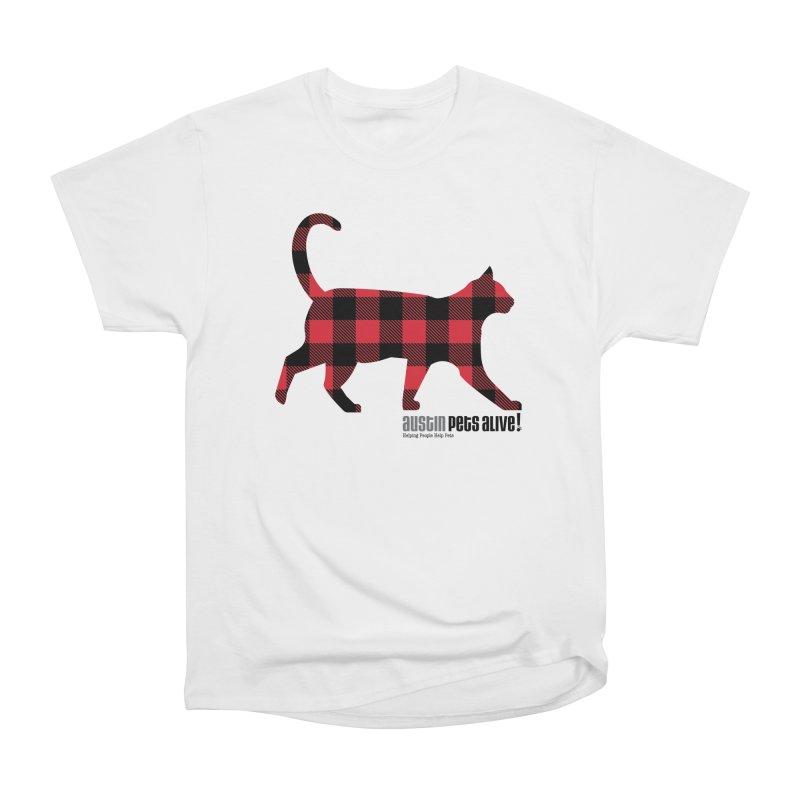 Cat in Plaid Women's Heavyweight Unisex T-Shirt by austinpetsalive's Artist Shop