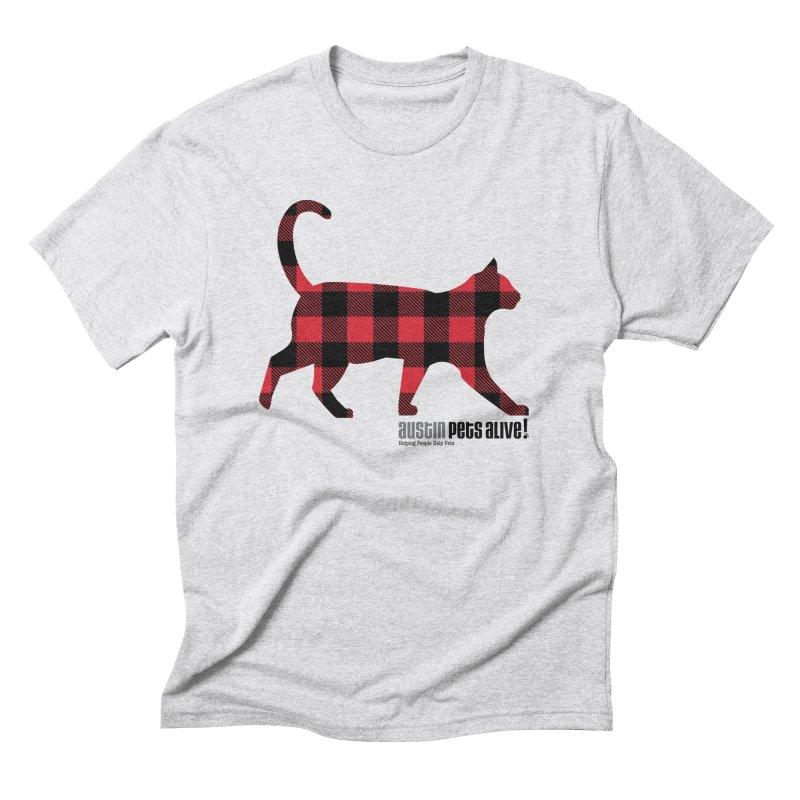 Cat in Plaid Men's Triblend T-Shirt by austinpetsalive's Artist Shop