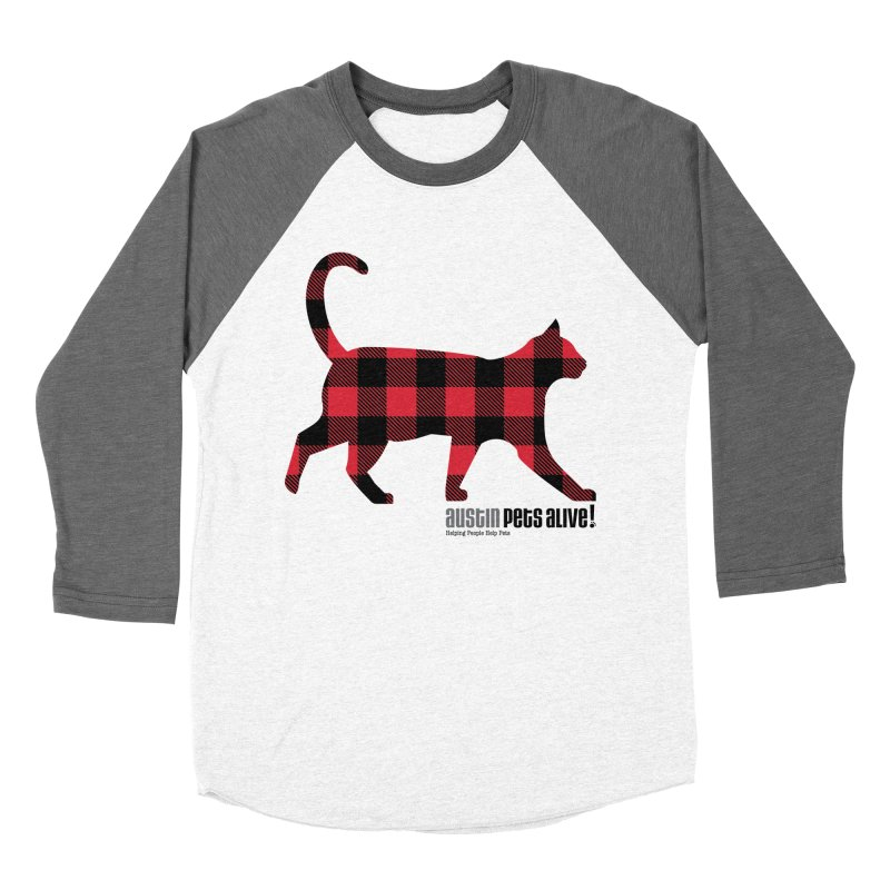 Cat in Plaid Men's Baseball Triblend Longsleeve T-Shirt by austinpetsalive's Artist Shop