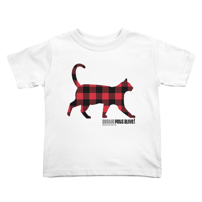 Cat in Plaid Kids Toddler T-Shirt by austinpetsalive's Artist Shop