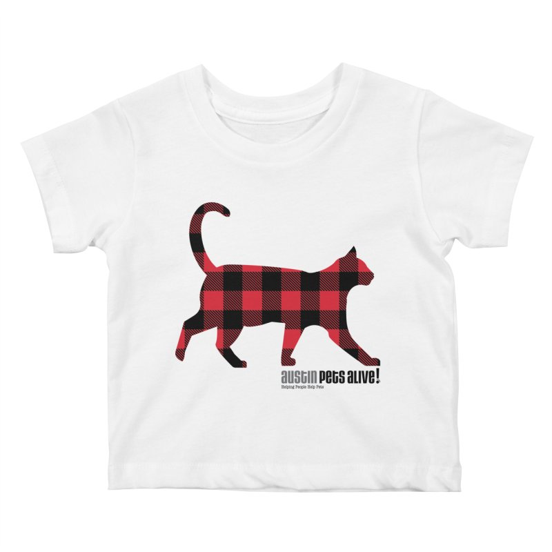 Cat in Plaid Kids Baby T-Shirt by austinpetsalive's Artist Shop
