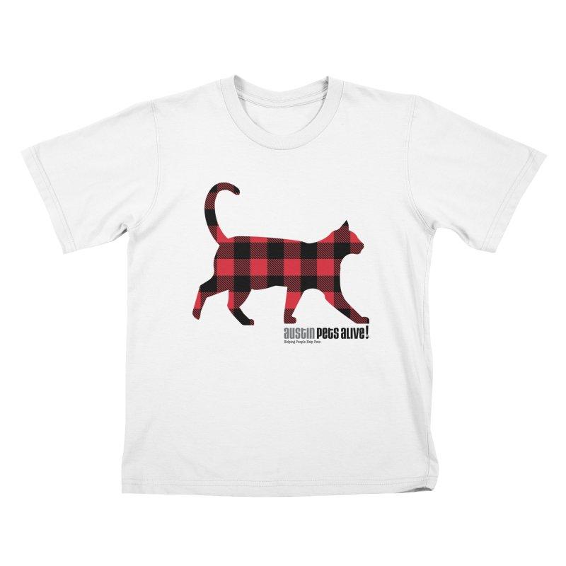 Cat in Plaid Kids T-Shirt by austinpetsalive's Artist Shop