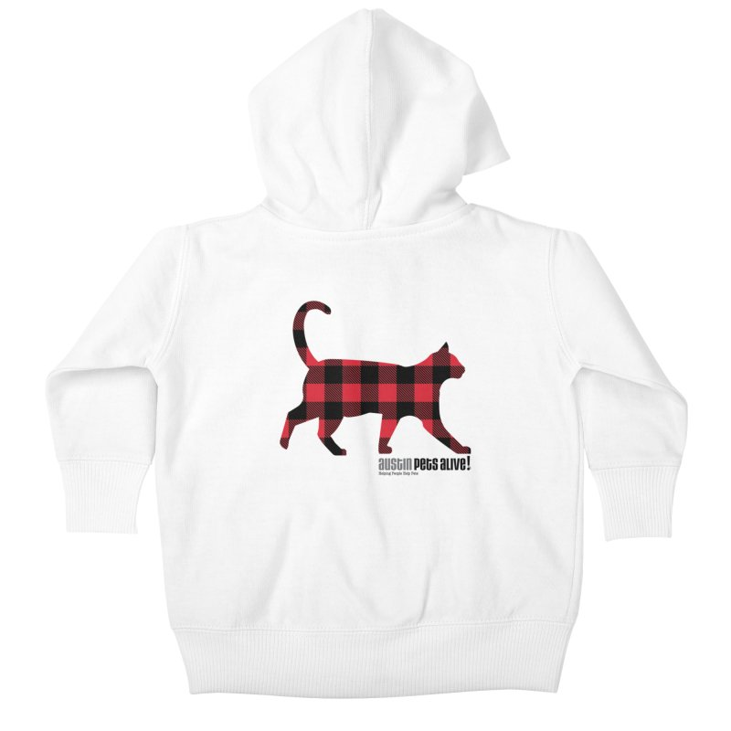 Cat in Plaid Kids Baby Zip-Up Hoody by austinpetsalive's Artist Shop