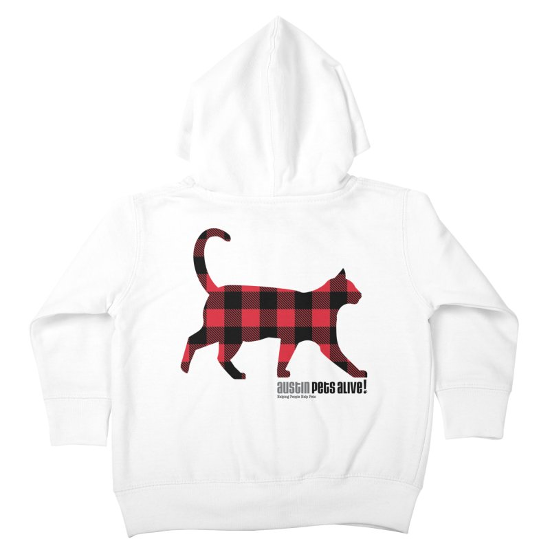 Cat in Plaid Kids Toddler Zip-Up Hoody by austinpetsalive's Artist Shop