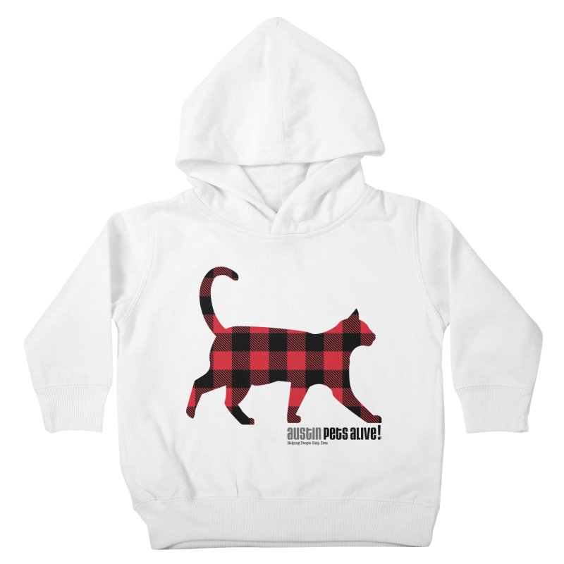 Cat in Plaid Kids Toddler Pullover Hoody by austinpetsalive's Artist Shop