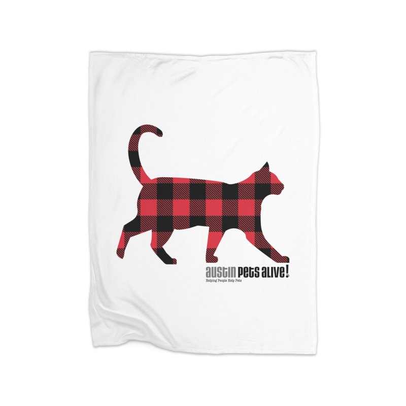 Cat in Plaid Home Blanket by austinpetsalive's Artist Shop