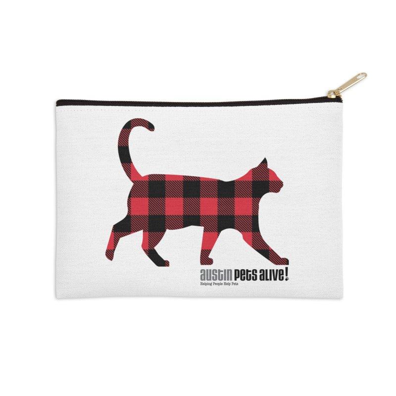 Cat in Plaid Accessories Zip Pouch by austinpetsalive's Artist Shop