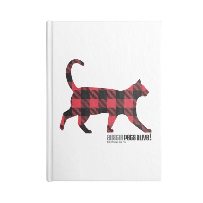 Cat in Plaid Accessories Notebook by austinpetsalive's Artist Shop