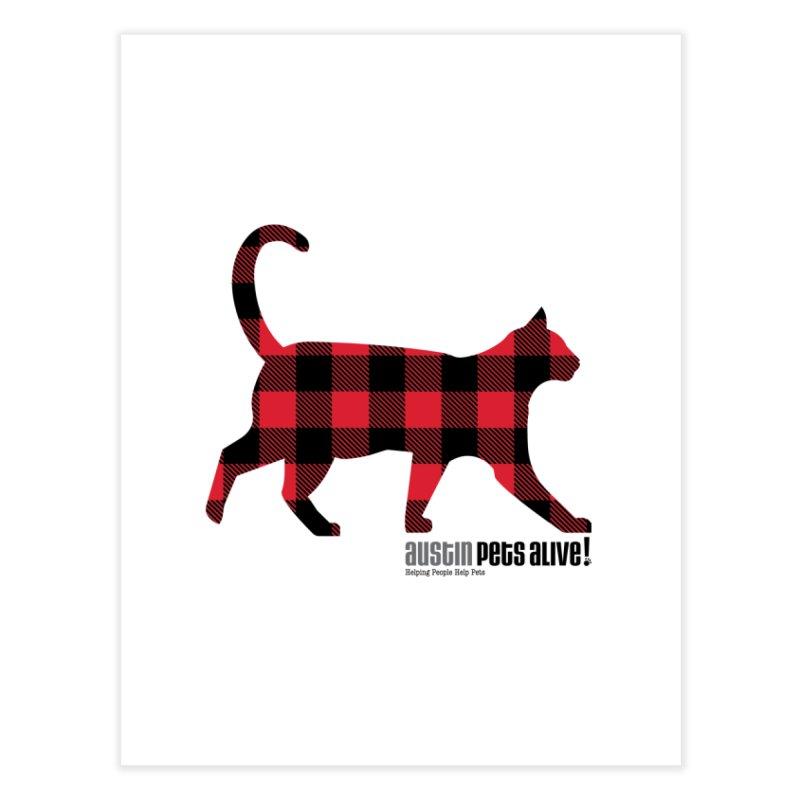 Cat in Plaid Home Fine Art Print by austinpetsalive's Artist Shop
