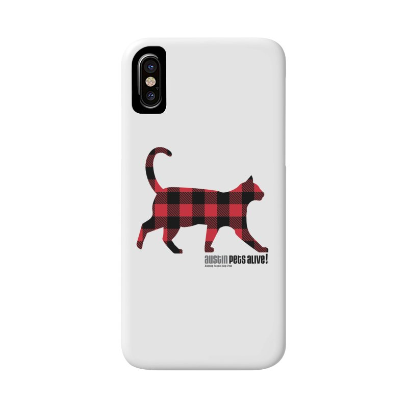 Cat in Plaid Accessories Phone Case by austinpetsalive's Artist Shop