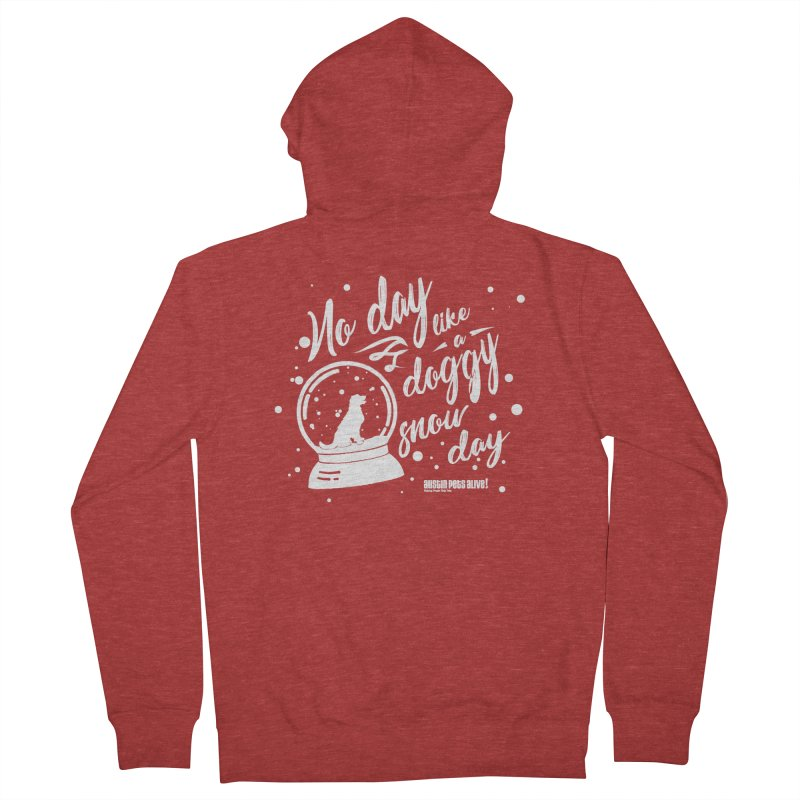 APA! Snow Days Women's French Terry Zip-Up Hoody by austinpetsalive's Artist Shop