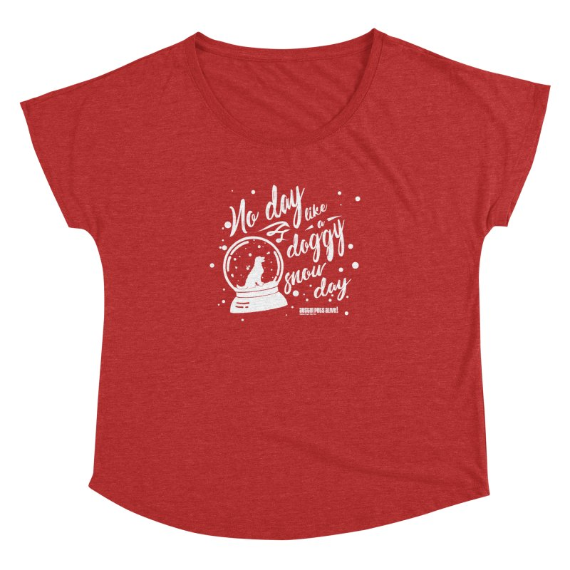 APA! Snow Days Women's Dolman Scoop Neck by austinpetsalive's Artist Shop