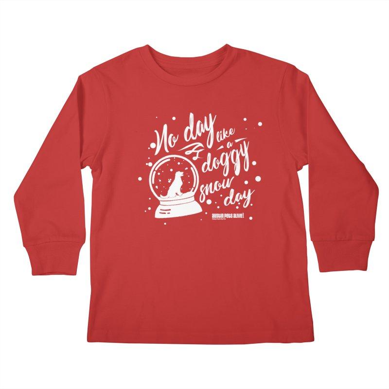 APA! Snow Days Kids Longsleeve T-Shirt by austinpetsalive's Artist Shop