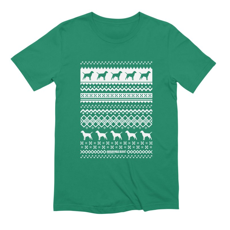 Festive Dogs Men's Extra Soft T-Shirt by austinpetsalive's Artist Shop