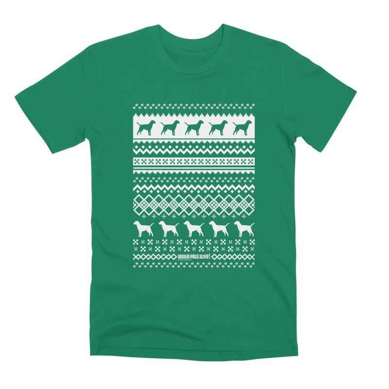 Festive Dogs Men's Premium T-Shirt by austinpetsalive's Artist Shop