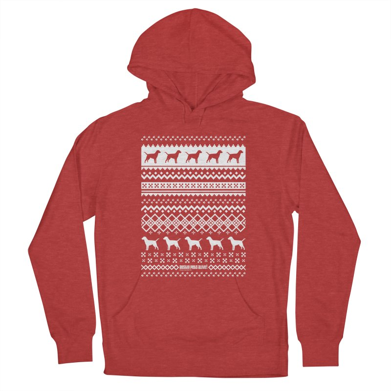 Festive Dogs Men's French Terry Pullover Hoody by austinpetsalive's Artist Shop