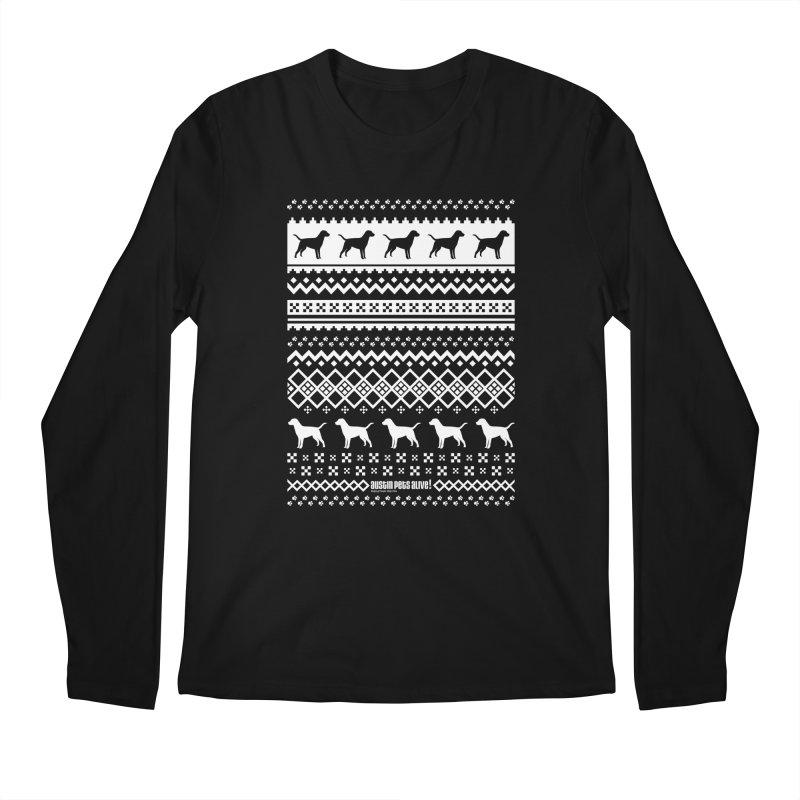 Festive Dogs Men's Regular Longsleeve T-Shirt by austinpetsalive's Artist Shop