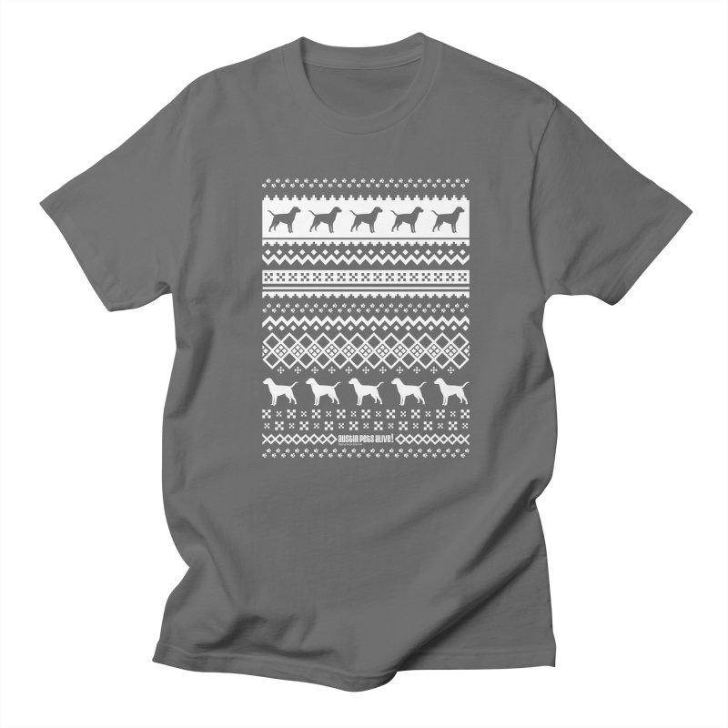 Festive Dogs Men's Regular T-Shirt by austinpetsalive's Artist Shop