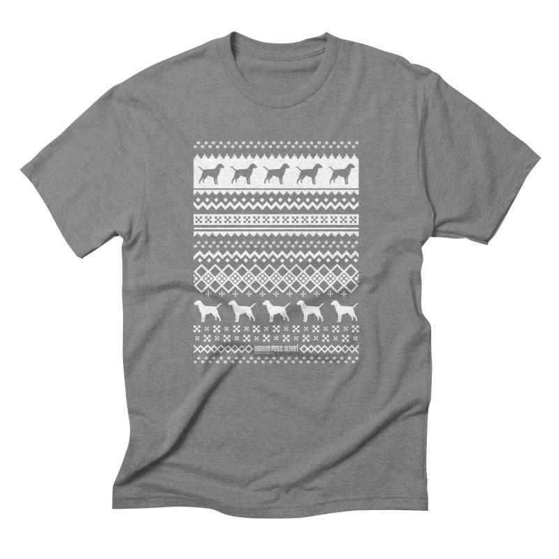 Festive Dogs Men's Triblend T-Shirt by austinpetsalive's Artist Shop