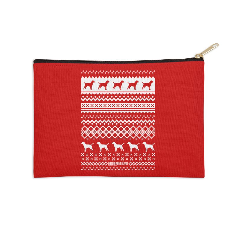 Festive Dogs Accessories Zip Pouch by austinpetsalive's Artist Shop