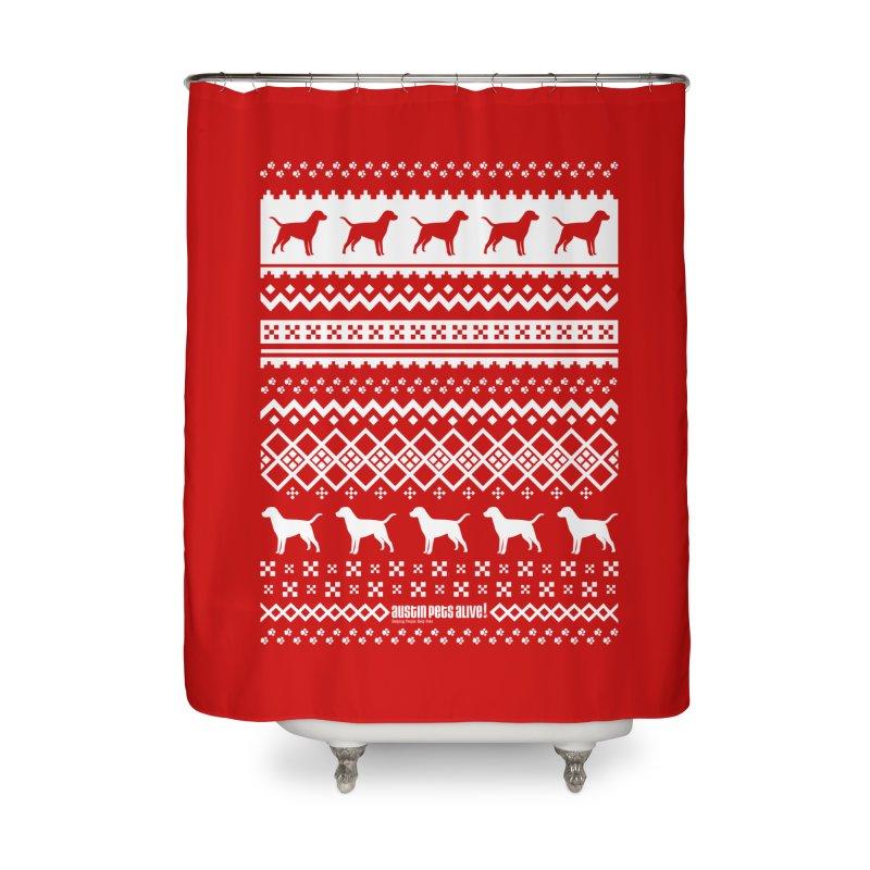Festive Dogs Home Shower Curtain by austinpetsalive's Artist Shop