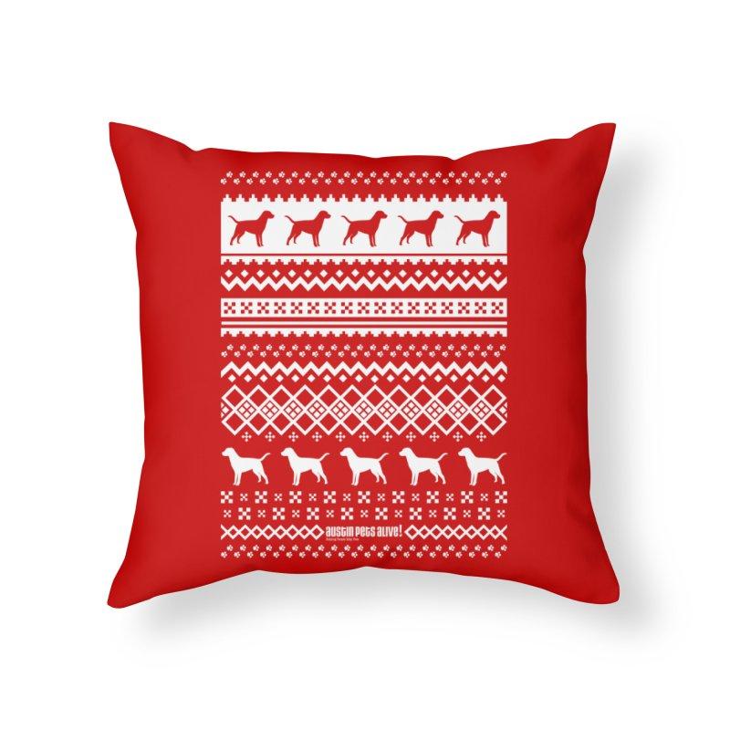 Festive Dogs Home Throw Pillow by austinpetsalive's Artist Shop