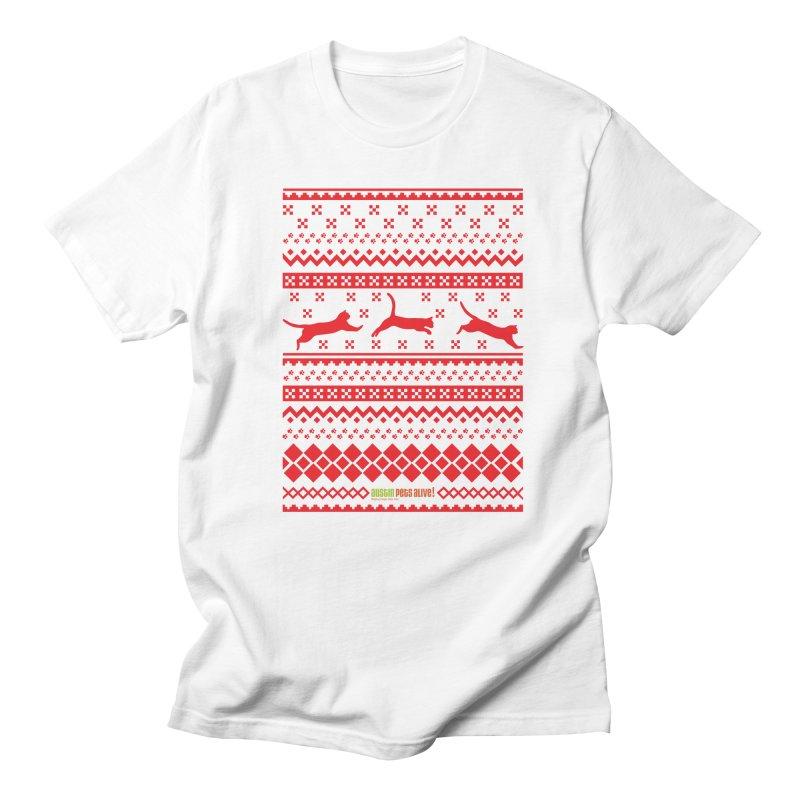 Festive Cats Men's Regular T-Shirt by austinpetsalive's Artist Shop