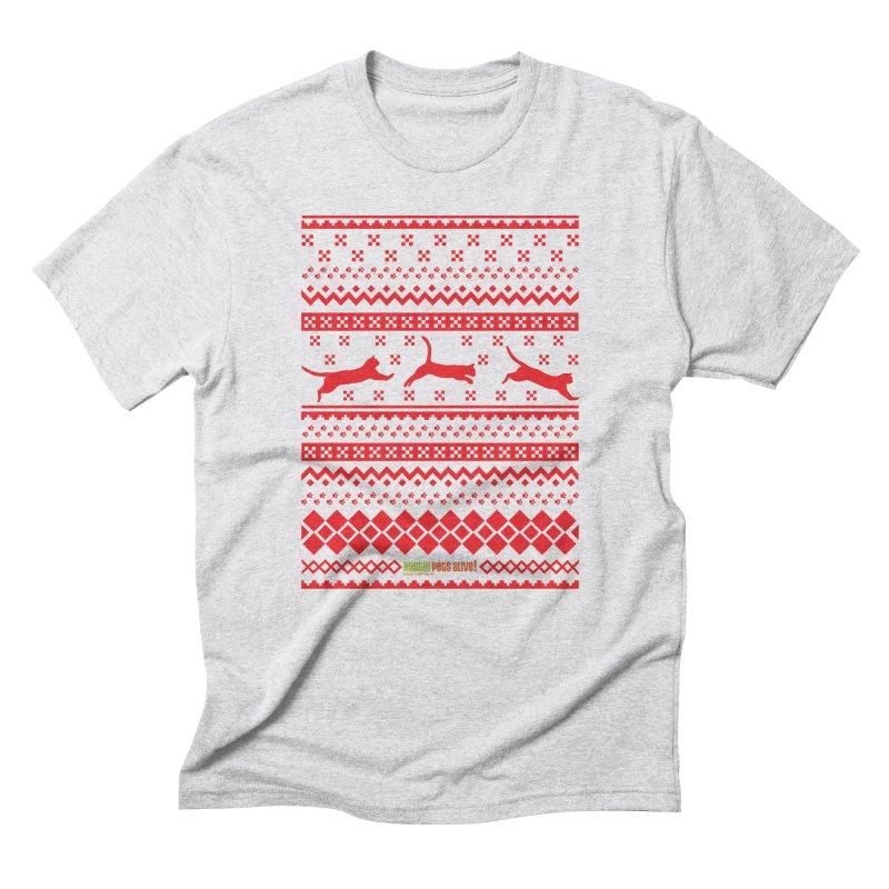 Festive Cats Men's Triblend T-Shirt by austinpetsalive's Artist Shop