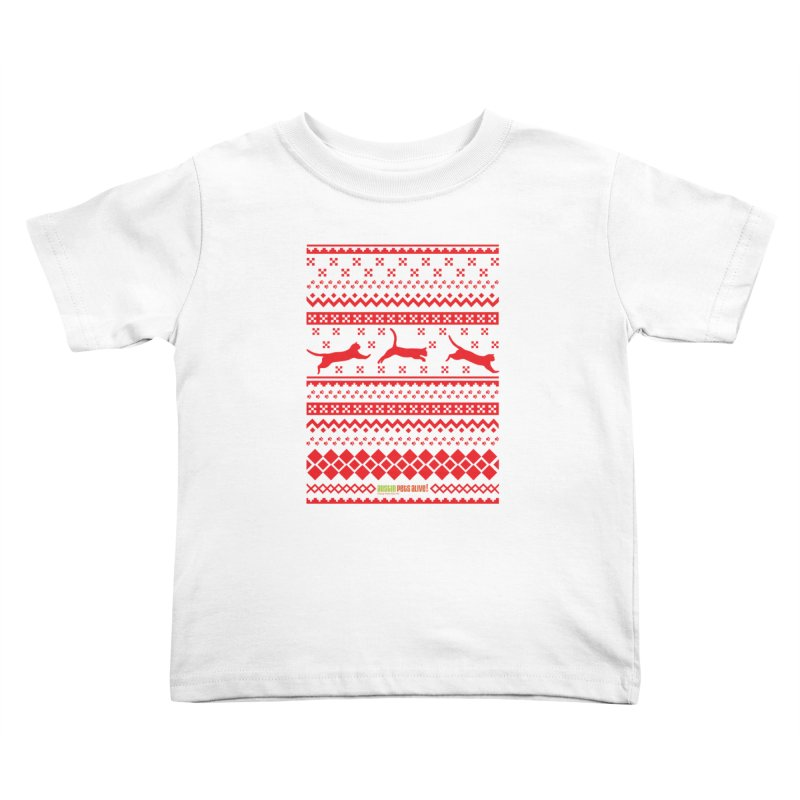 Festive Cats Kids Toddler T-Shirt by austinpetsalive's Artist Shop