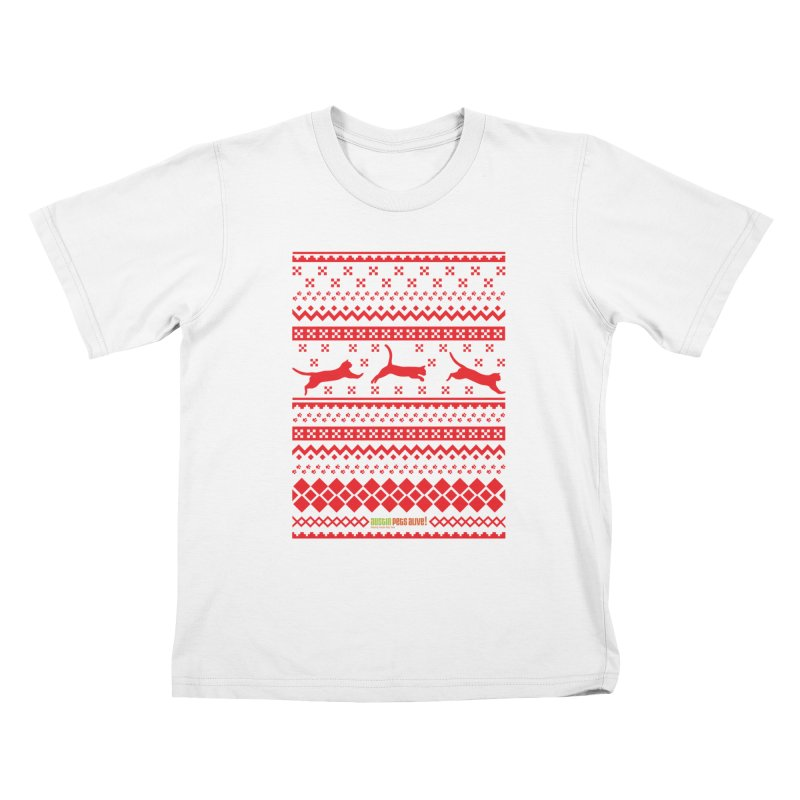 Festive Cats Kids T-Shirt by austinpetsalive's Artist Shop