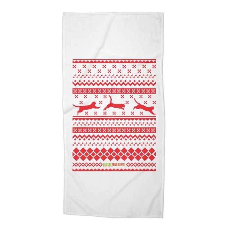 Festive Cats Accessories Beach Towel by austinpetsalive's Artist Shop