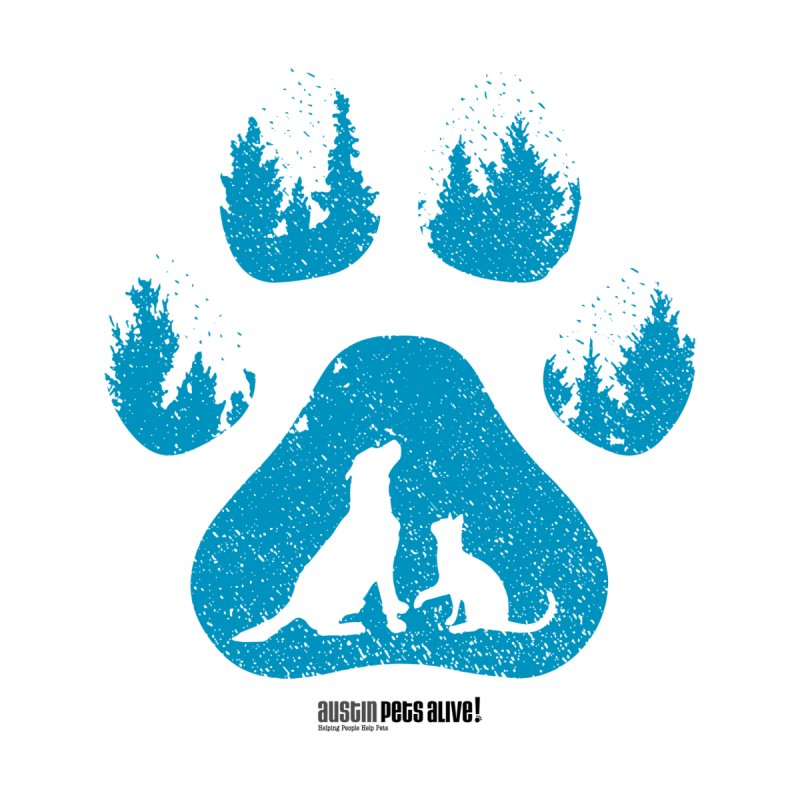 Forest Paw Women's Tank by Austin Pets Alive's Artist Shop