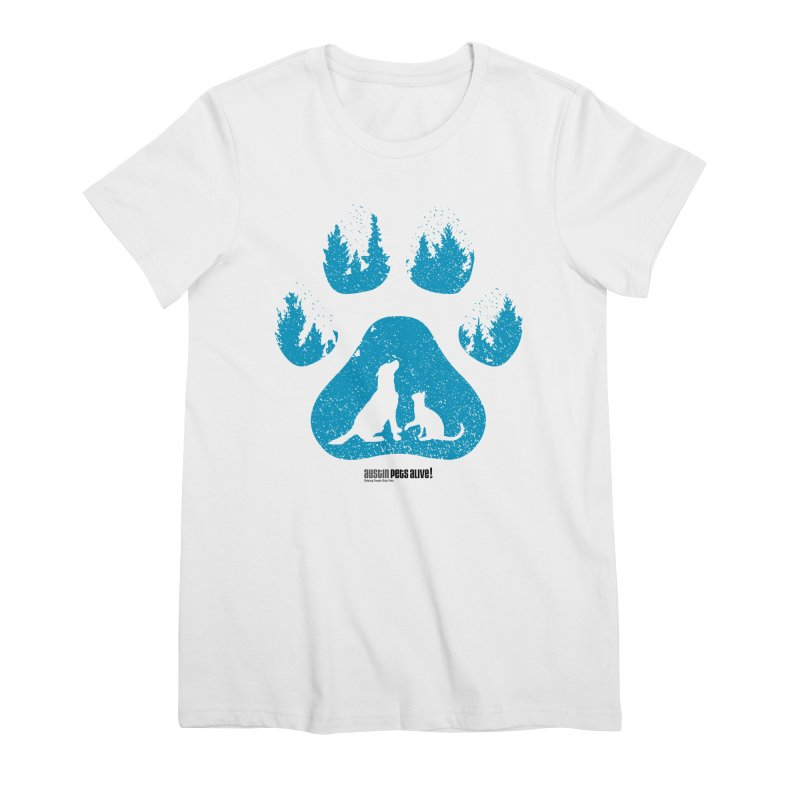 Forest Paw Women's Premium T-Shirt by Austin Pets Alive's Artist Shop