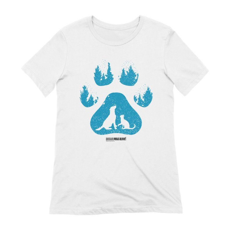 Forest Paw Women's Extra Soft T-Shirt by Austin Pets Alive's Artist Shop