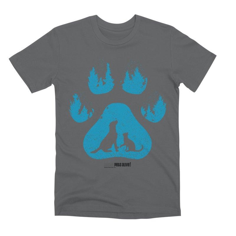 Forest Paw Men's Premium T-Shirt by austinpetsalive's Artist Shop