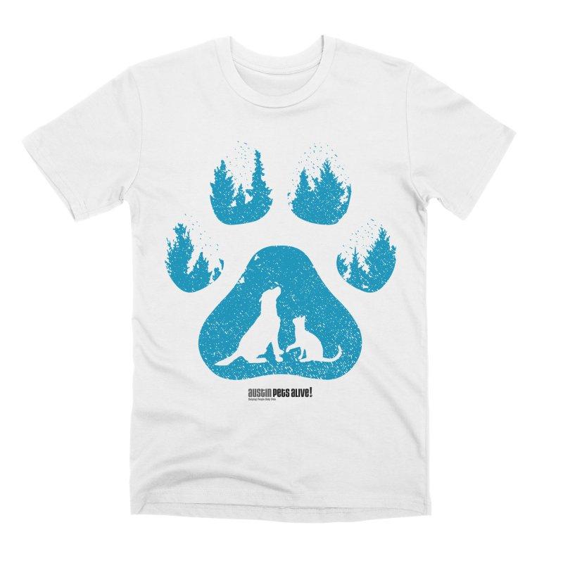 Forest Paw Men's Premium T-Shirt by Austin Pets Alive's Artist Shop