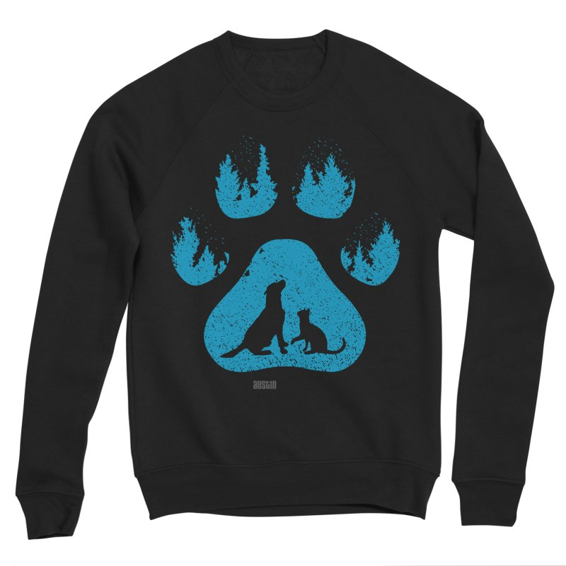 Forest Paw Men's Sponge Fleece Sweatshirt by Austin Pets Alive's Artist Shop