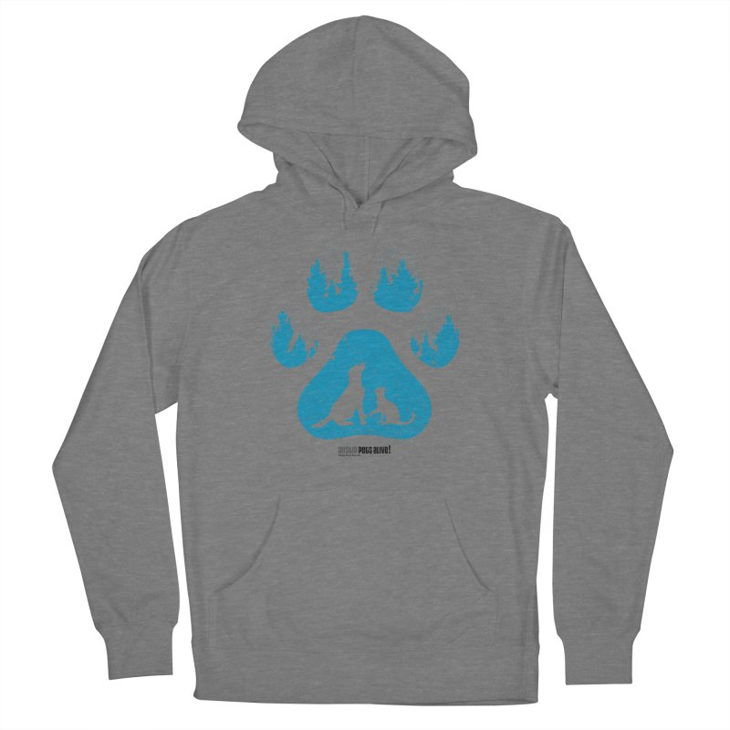 Forest Paw Men's French Terry Pullover Hoody by Austin Pets Alive's Artist Shop