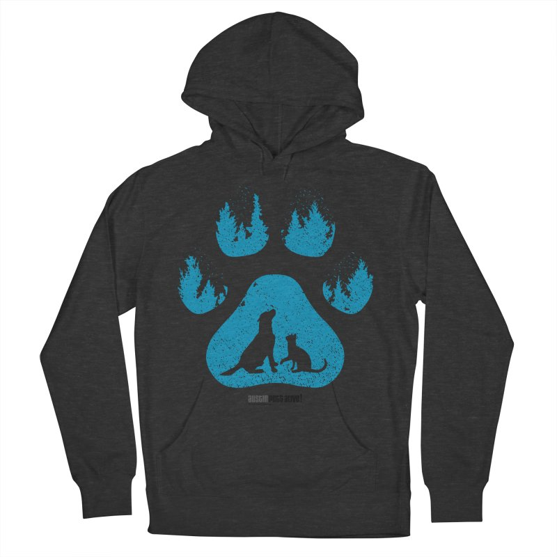 Forest Paw Men's French Terry Pullover Hoody by austinpetsalive's Artist Shop