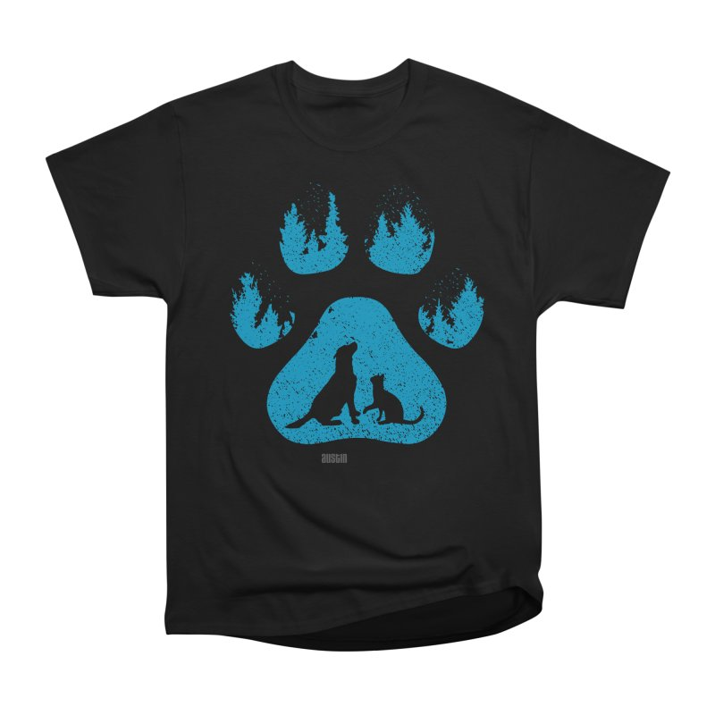 Forest Paw Men's Heavyweight T-Shirt by Austin Pets Alive's Artist Shop